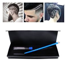 Hair Tattoo Trim Styling Face Eyebrow Shaping Device, Ociga Engraved Pen + 10 Blades + Tweezer Hair Styling...