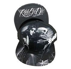 BIKER BABE Skull Lowrider BIKER Easy Rider Snapback Cholo Gangster Cap Hat DGA