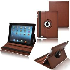 """awesome CrazyOnDigital Rotating Stand Leather Case with SLEEP AND WAKE Function for """"The New iPad"""" 3rd Gen 2012 Model"""