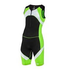 SLS3 Mens Triathlon Tri Race Suit 1 Pocket  great from Sprint to Ironman Lime S ** Click image for more details.