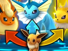 "Pokemon Go How to evolve Eevee into a Vaporeon Jolteon or Flareon this pokemon go trick will show you how to upgrade evee  into a Vaporeon Jolteon or Flareon How To Do IT In a 1998 episode of the original Pokémon series called ""The Battling Eevee Brothers"", Ash meets three brothers who own an evolved Eevee; one brother called Rainer has a Vaporeon, Sparky has a Jolteon, and Pyro has a Flareon. <br /><br />As discovered by people on Reddit, and now confirmed several times through different…"