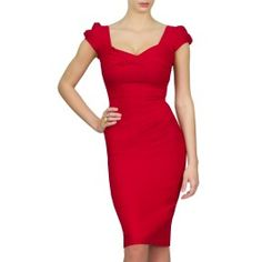 Nigella Dress - famously worn by Nigella Lawson. See more red dresses for busty women with beautifully big C-HH cup boobs at www.saintbustier.com