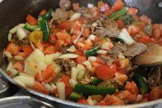Receta de Carne a la mexicana