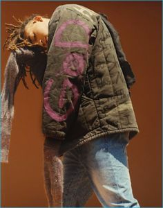 Jaden Smith sports a George Jeff jacket with a Vivienne Westwood sweater and H&M jeans.