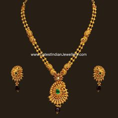 Simple Paisley Pendant Antique Haram | Latest Indian Jewellery Designs