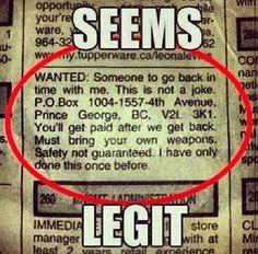 Perhaps he has a DeLorean?