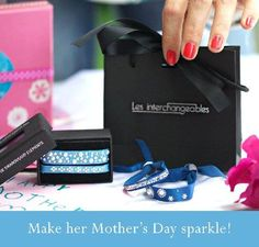 The Paris Bracelet by Les Interchangeables features the finest quality ribbon embellished with swarovski crystals and an adjustable sliding clasp ensures they will fit just about any wrist.  They make the perfect Mother's Day gift and starting at only $39, they'll fit into anyone's budget!