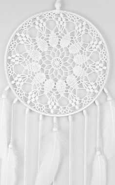 Best 12 Large White Dream Catcher Crochet Doily Dreamcatcher Wedding image 3 – Page 778700591805357304 Crochet Dreamcatcher Pattern, Mandala Au Crochet, Mobiles En Crochet, Crochet Mobile, Dream Catcher Wedding, Dream Catcher Boho, Lace Doilies, Crochet Doilies, Crochet Lace