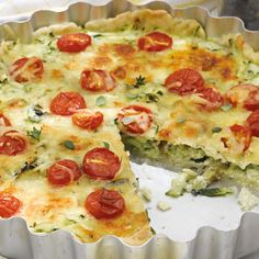 Zucchini-Auberginen-Quiche Rezept | Weight Watchers