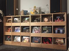 Custom built to fit our vinyl room. Drawers were designed to pull all the way out. Record Shelf, Vinyl Record Storage, Vintage Man Cave Ideas, Vinyl Shelf, Vinyl Record Collection, Vinyl Room, Antique Decor, Custom Vinyl, Custom Cabinets
