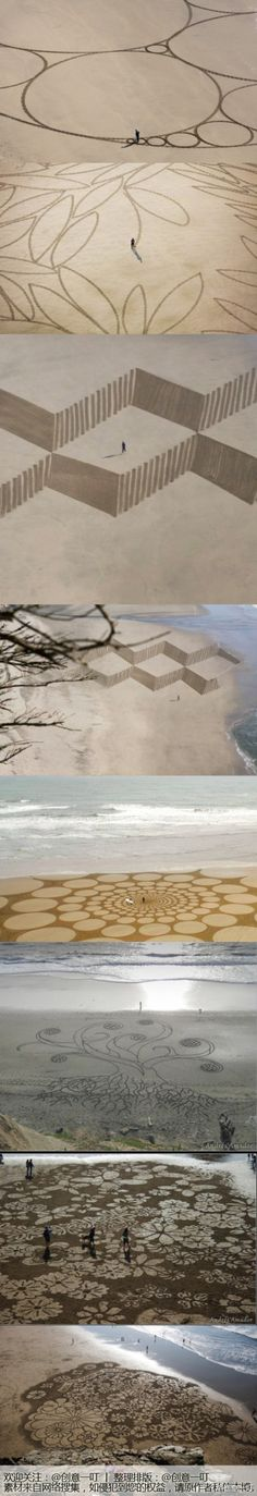 ♥ Sand art by Andreas Amador