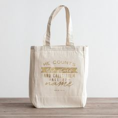 He Counts the Stars - Canvas Tote Bag