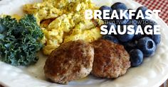 Whole 30 Compliant Breakfast Sausage   healthylivinghowto.com. I added an egg to the mix and it turned out great. Next time I might reduce the cayenne pepper by half...it's pretty spicy.