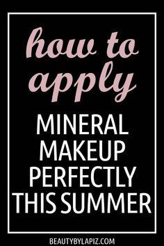 How To Apply Makeup: Mineral Makeup Application Tips You Can Use This Summer – … - Makeup Tips Summer Makeup Tips Lips, Makeup Tips For Redheads, Best Makeup Brushes, Makeup Brush Set, Makeup Hacks, Diy Makeup, Makeup Ideas, Makeup Tutorials, Basic Makeup