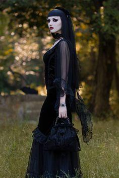 Model: Obsidian Kerttu Photo: John Wolfrik Dress,... - Gothic and Amazing