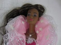 1985-Mattel-DREAM-GLOW-African-American-Barbie-Doll-aa-black