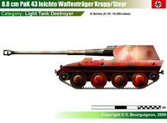 Waffenträger Krupp/Steyr mit 88mm Pak 43