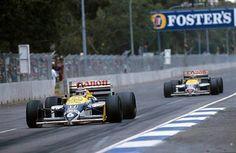 Nelson Piquet y Nigel Mansell, GP de Australia 1986 Formula 1, Albert Park Melbourne, Nigel Mansell, Australian Grand Prix, Racing, F1, Sunday, Ayrton Senna, Auto Racing