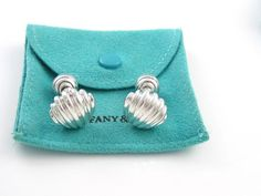 Tiffany & Co. Cuff Links ~ Rare ~ Solid Silver ~ Nautical Collection ~ Italy ~ UNIQUELY STUNNING !!!