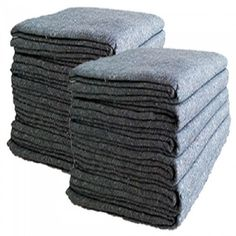 "Textile Moving Blankets - Qty: 24 Size: 54"" x 72"" - Color: Grey - Material: Made in North America ""Excellent quality"" Weight: 1.66 lbs Tensile Strength: 60lbsThickness: 3 mm Use to protect items during packing and moving, also used for industrial applications.   Great blanket for the do-it-yourself or professional movers or storage unit operators."