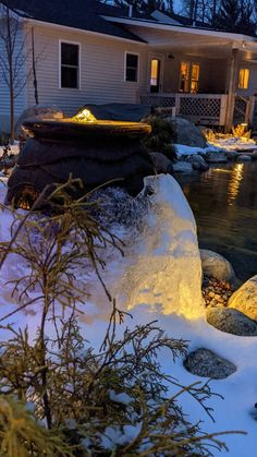 Lights on your pond, fountain, Waterfeature give you extended joy. Waterpaw Ponds is your Michigan expert pond, fountain, waterfeature builder. Boyne City, Traverse City Michigan, Backyard Ponds, Pond Design, Northern Michigan, Landscape Lighting, Fountain, Joy, Lights