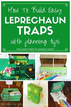 St Patricks Day Kids Leprechaun Trap Ideas. Build a leprechaun trap for a fun St Patricks Day STEM challenge! Use our free planning page to design and plan your leprechaun trap activity. Great STEM St Patricks day activity for preschool, kindergarten, and grade school age kids!