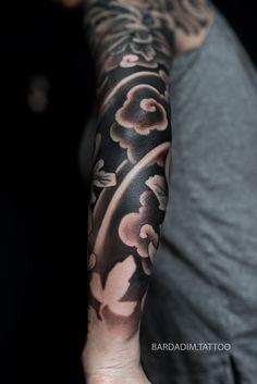 Tattoo portfolio by George Bardadim. Japanese Tattoo Meanings, Japanese Tattoo Designs, Japanese Sleeve Tattoos, Tattoo Japanese, Irezumi Tattoos, Hannya Tattoo, Hand Tattoos, Elbow Tattoos, Japan Tattoo Design
