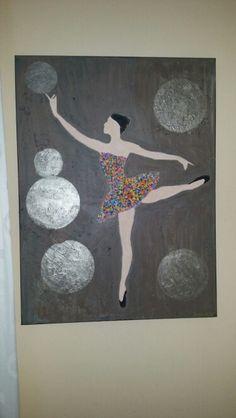 Ballerina. Acrylic, mixed media. By Gabriëlle Beens
