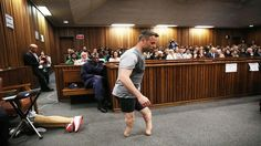 Judge Forces Sobbing Oscar Pistorius Walks Without Prosthetic Legs in Packed Courtroom