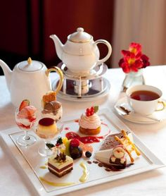 Give yourself an afternoon Tea Party in bed. Be sure to have a good book, your favorite Magazines and SLOWLY nibble your way through the day. Vegan Teas, Afternoon Tea Parties, Tea Sandwiches, My Cup Of Tea, Tea Service, Macaron, Tea Recipes, Drinking Tea, Tea Time