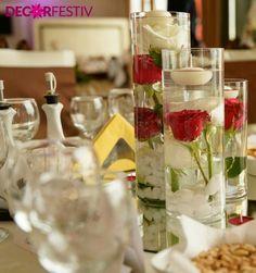 Trandafiri in cilindri