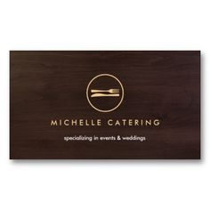 Customizable Modern Business Card for Chefs or Restaurants