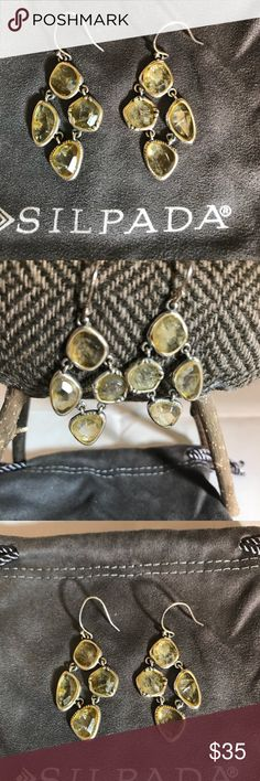 """🍋 FRESH SQUEEZED 🍋 SILPADA STERLING EARRINGS 🍋 CUTE!!! Summery yellow Citrine gemstones and sterling silver earrings.  Silpada """"Fresh-Squeezed"""".                     1-1/2"""" length.     BUNDLE TO SAVE 💲💲👜🛍 Silpada Jewelry Earrings"""