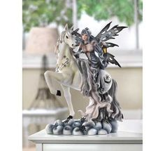 Midnight Fairy Figurine With Unicorn $39.95