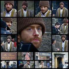 BTS Photos of Richard Rankin as Roger Wakefield MacKenzie filming in Falkland Scotland for Outlander_Starz Season 4 Drums of Autumn - January 25th, 2018