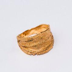 Golden rag, 14k gold ring, unisex ring, wedding ring, wedding band, mens ring. $680.00, via Etsy.