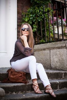 STYLE GAMBLERS : White trousers - summer must have #blogger#fashionblogger#streetstyle#ootd#whitejeans