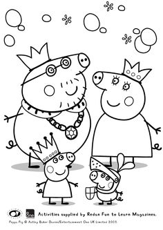 27 Best Peppa Pig: Disegni da Colorare images | Coloring pages