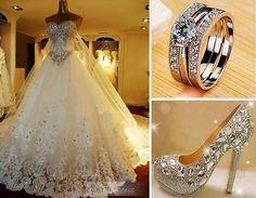 Marvelous Wedding Dress and High heel Sandal - World