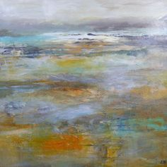 The Coming of Winter, 30 x 30 ins, acrylic, gesso, pigment and inks on canvas, Lesley Birch Art