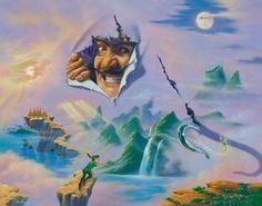 "Surreal Disney art- ""surprise"" by Jim Warren"