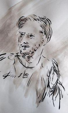 30 Avril 2018, évangile du jour illustré par un dessin au lavis