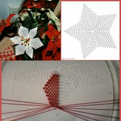 Christmas Decorations, Holiday Decor, Christmas Tree, Bobbin Lacemaking, Bobbin Lace Patterns, Tatting Lace, Lace Making, Needlework, How To Make