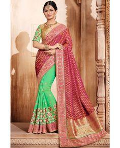 Fabric : Silk Jacquard and Art Silk Blouse : Lumpa