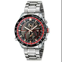 Curren 8149 Round Dial Analog Watch with Calendar & Stainless Steel Strap for Men
