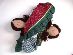 Topsy Turvy Handcrafted Doll OOAK Happy Face Sad Face Cloth Doll Flip Flop Rag Doll Reversible Ragdoll Turnabout Doll Upside Down Changeable