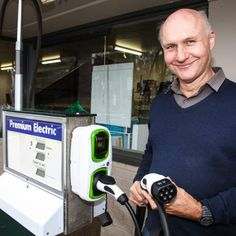 A local renewable energy shop converted the disused petrol/gas pump outside their store into an EV charging point #Tesla #Models #car #Automotive #cars #Autos