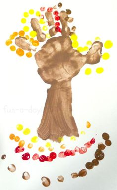 Preschool Fall Hand Print Tree -- A tried-and-true art project for the kiddos!