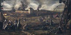 Medininkai Castle Siege, Vilius Petrauskas on ArtStation at https://www.artstation.com/artwork/zAXGZ