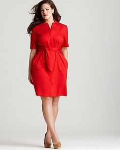 61ae01eceb6 Lafayette 148 New York Plus Size Inga Tie Front Dress Women - Plus - Dresses  - Bloomingdale s